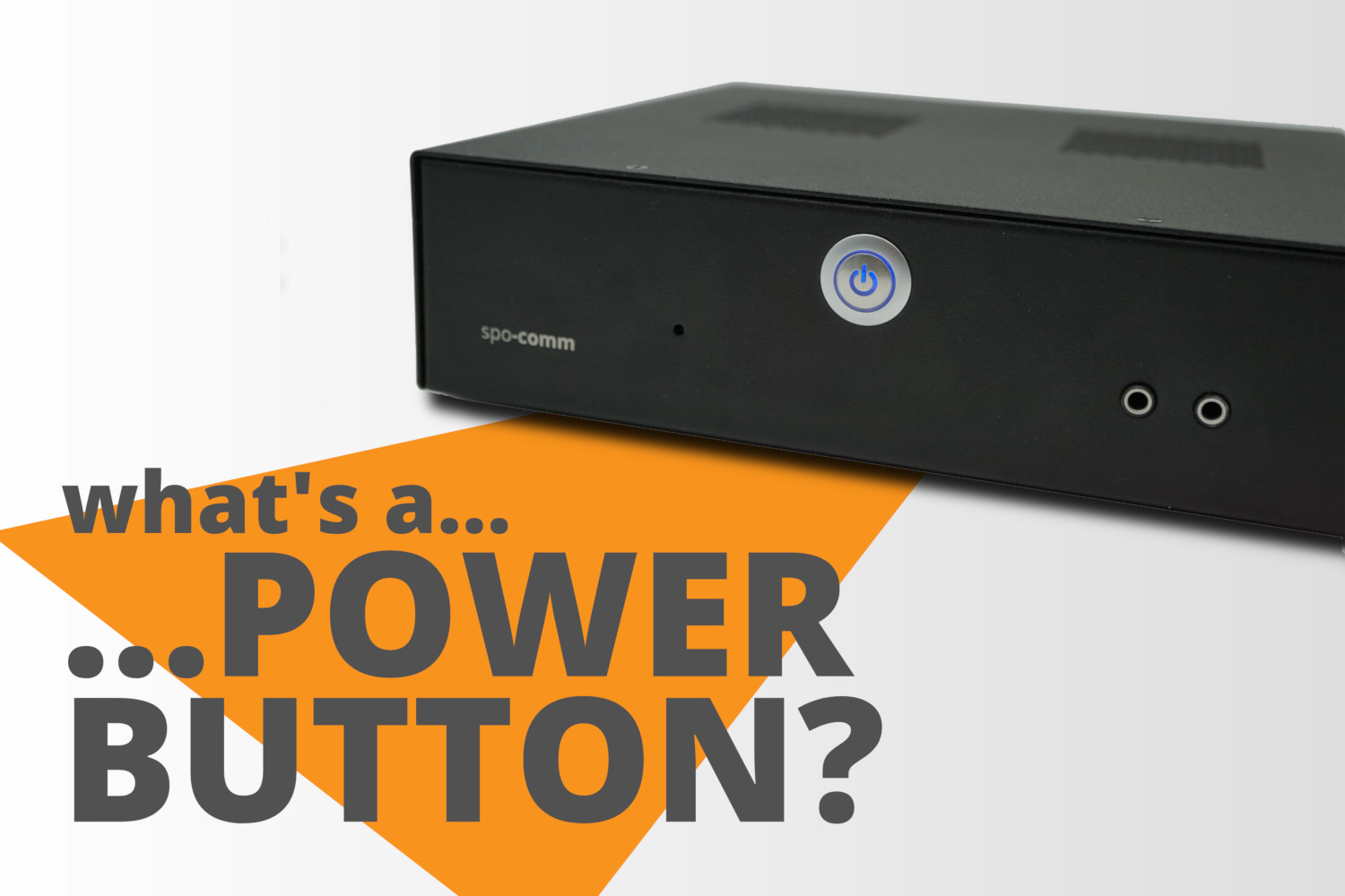 What is a power button?