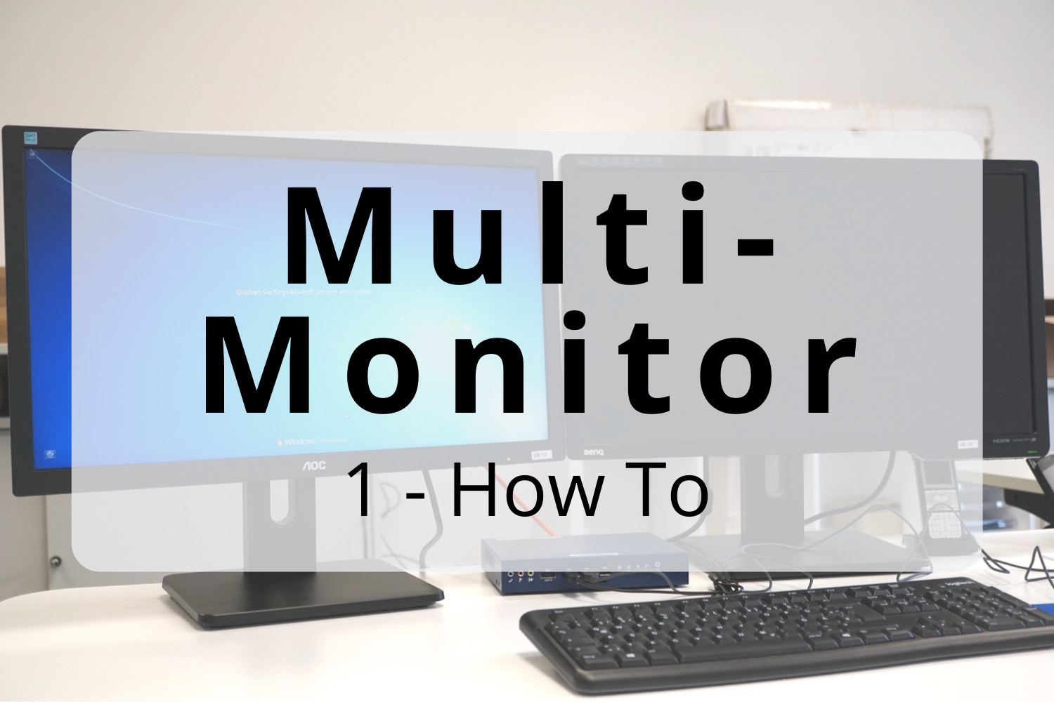 Multi-monitor – How to: Duplicated screen and extended desktop