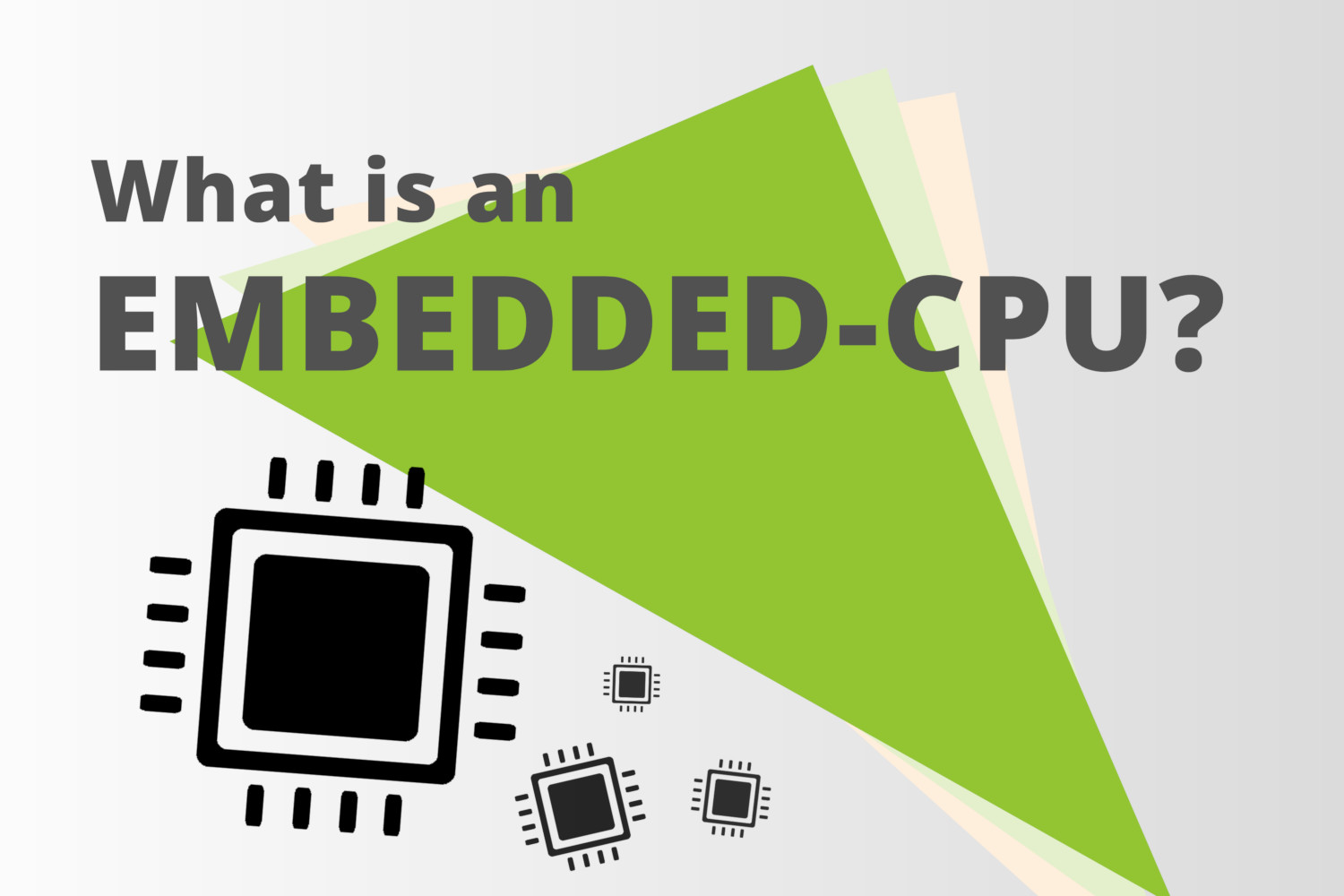 What is an Embedded-CPU?